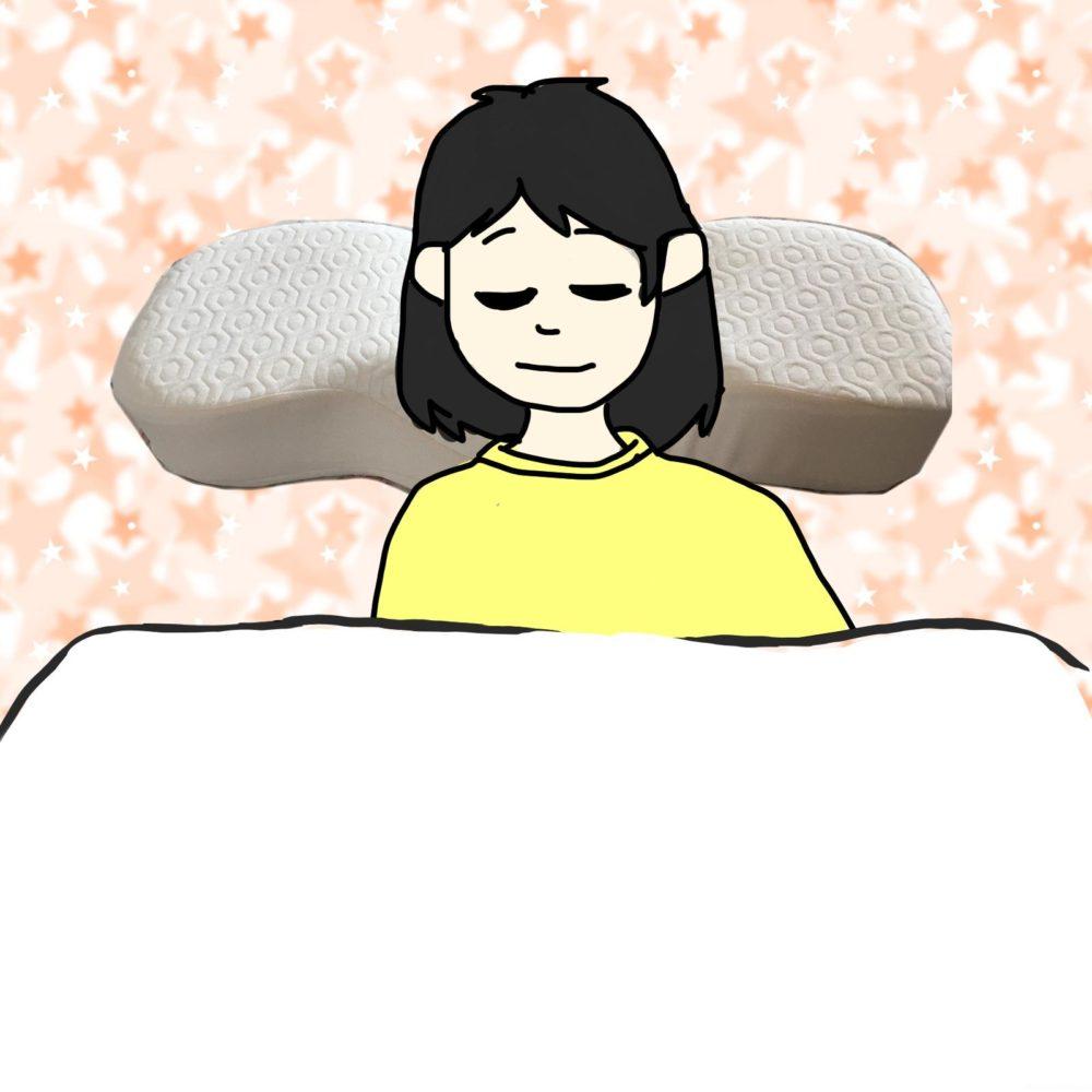寝返りするための枕って何?キュアラインピローで寝てみた