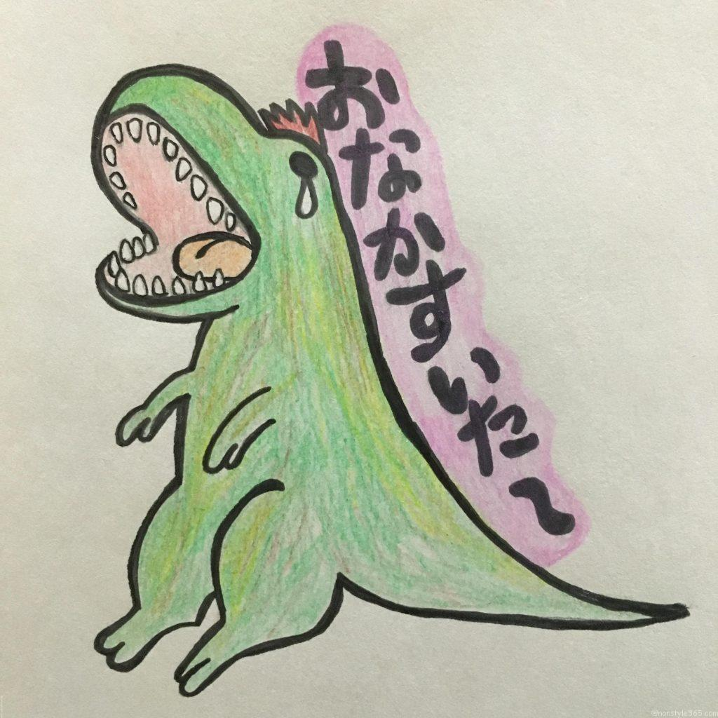 恐竜のおえかきティラノサウルス