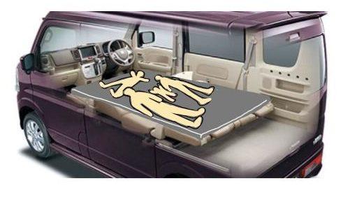 くるま旅の準備中 車中泊を疑似体験?くるまのサイズを再現してマットで寝てみたよ